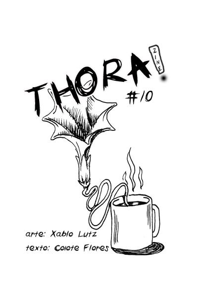 capa da décima edição do zine thorazine