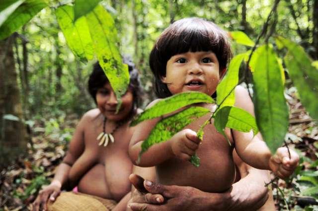 foto dos awá-guajá no survivalinternational