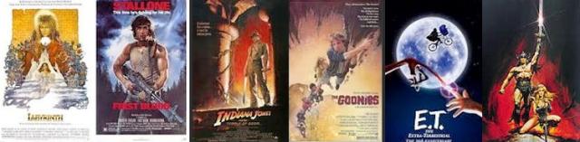 capas de filmes dos anos oitenta