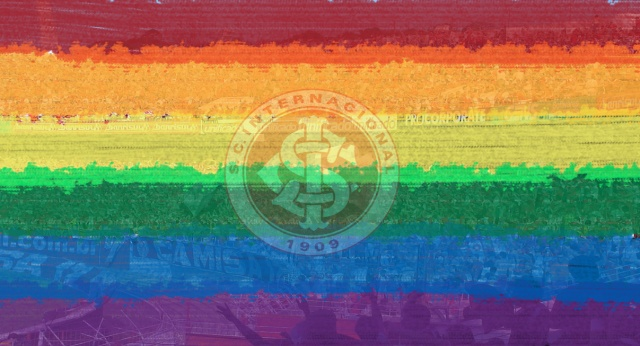 símbolo S.C Internacional + bandeira LGBT