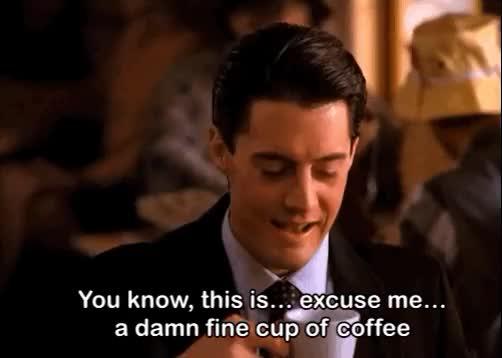 cena de Twin Peaks em que Dale Cooper toma seu primeiro café na cidade que dá nome à série